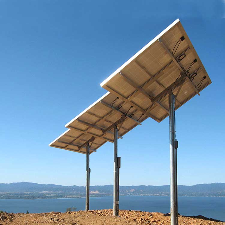 solar pole ground mounting system